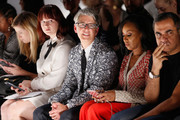 (L-R) Tyler McCall, Buxton Midyette, June Ambrose and Bibhu Mohapatra attend Supima Design Competition SS18 runway show during New York Fashion Week at Pier 59 on September 7, 2017 in New York City.