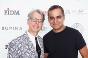 VP of marketing and promotions at Supima Buxton Midyette and designer Bibhu Mohapatra attend Supima Design Competition SS18 runway show during New York Fashion Week at Pier 59 on September 7, 2017 in New York City.
