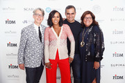 (L-R) Buxton Midyette, June Ambrose, Bibhu Mohapatra, and Fern Mallis attend Supima Design Competition SS18 runway show during New York Fashion Week at Pier 59 on September 7, 2017 in New York City.