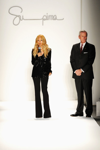 (L-R) Rachel Zoe and Jesse Curlee present at the Supima Spring 2013 fashion show during Mercedes-Benz Fashion Week at The Studio at Lincoln Center on September 6, 2012 in New York City.