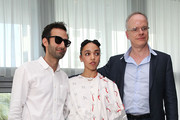 (L-R) Alex Israel,  FKA Twigs and Hans Ulrich Obrist  attend a Surface Magazine Event With Hans Ulrich Obrist And FKA Twigs at Edition Hotel on December 4, 2014 in Miami, Florida.