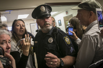Susan Collins Activists Hold Sit In At Sen. Susan Collins (R-ME) Office In Portland