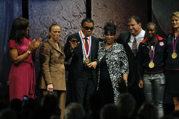 Susan Francia Muhammad Ali Honored With Liberty Medal In Philadelphia