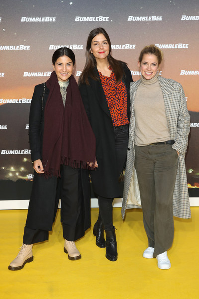 'Bumblebee' Special Berlin Fan Screening [fashion,event,fashion design,carpet,suit,outerwear,premiere,flooring,red carpet,formal wear,guests,susan hoecke,c,berlin,germany,bumblebee special berlin fan screening,screening]