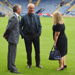 Susan Whelan Guests Attend the Leicester City Training and Press Conference