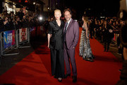 """(L-R) Tilda Swinton and Luca Guadagnino attend the UK Premiere of """"Suspiria"""" & Headline Gala during the 62nd BFI London Film Festival on October 16, 2018 in London, England."""