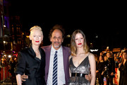 """(L-R) Tilda Swinton, Luca Guadagnino and Mia Goth attends the UK Premiere of """"Suspiria"""" & Headline Gala during the 62nd BFI London Film Festival on October 16, 2018 in London, England."""