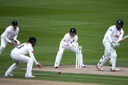Jesse Ryder of Essex hits out while wicket keep Ben Brown of Sussex looks on during day two of the Specsavers County Championship Division Two match between Sussex and Essex at The 1st Central County Ground, on April 18, 2016 in Hove, England.