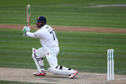 Jesse Ryder of Essex hits out during day two of the Specsavers County Championship Division Two match between Sussex and Essex at The 1st Central County Ground, on April 18, 2016 in Hove, England.