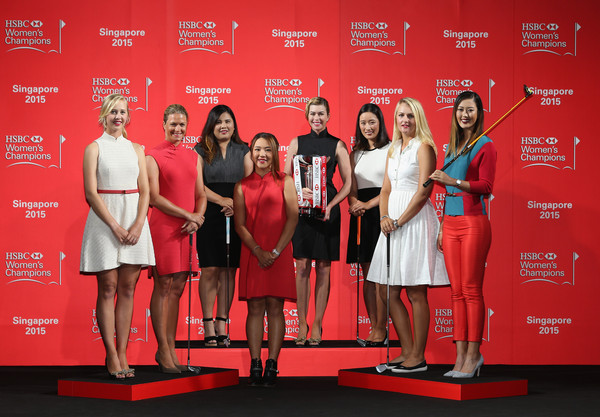 HSBC Women's Champions: Previews [hsbc womens champions: previews,red,event,award ceremony,stage equipment,carpet,talent show,catwalk,singapore,jessica korda,suzann pettersen,r,paula creamer,chella choi,anna nordqvist,lydia ko]