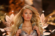 Romee Strijd walks the runway wearing Swarovski in the 2018 Victoria's Secret Fashion Show at Pier 94 on November 8, 2018 in New York City.