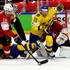 Patric Hornqvist Photos - Patric Hornqvist #72 of Sweden and Raphael Diaz #16 of Switzerland battle for the puck during the 2018 IIHF Ice Hockey World Championship Gold Medal Game game between Sweden and Switzerland at Royal Arena on May 20, 2018 in Copenhagen, Denmark. - Patric Hornqvist Photos - 12 of 826