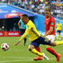 Martin Olsson Michael Lang Photos - Martin Olsson of Sweden is fouled by Michael Lang of Switzerland leading to Michael Lang of Switzerland recieving a red card, and after a VAR review, Sweden recieving a free kick during the 2018 FIFA World Cup Russia Round of 16 match between Sweden and Switzerland at Saint Petersburg Stadium on July 3, 2018 in Saint Petersburg, Russia. - Sweden vs. Switzerland: Round of 16 - 2018 FIFA World Cup Russia