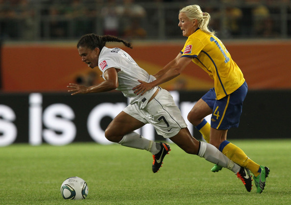 Shannon+Boxx in Sweden v USA: Group C - FIFA Women's World Cup 2011