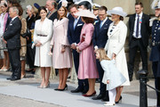 (L-R) Princess Sofia, Princess Madeleine of Sweden,Christopher O'Neill, Queen Silvia of Sweden, Prince Daniel of Sweden, Crown Princess Victoria of Sweden and Princess Estelle of Sweden are seen at the celebrations of the Swedish Armed Forces for the 70th birthday of King Carl Gustaf of Sweden on April 30, 2016 in Stockholm, Sweden.