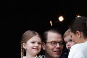 Princess Estelle, Duchess of Ostergotland, Prince Daniel, Duke of Vastergotland, Prince Oscar, Duke of Skane and Crown Princess Victoria of Sweden attend a celebration of King Carl Gustav's 72nd birthday anniversary at the Royal Palace on April 30, 2018 in Stockholm, Sweden.