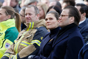 Mikael Ekfeldt, Victoria, Crown Princess of Sweden and Prince Daniel, Duke of Vastergotland attend a tribute to victims of Stockholm terrorist attack on the first anniversary on April 7, 2018 in Stockholm, Sweden.