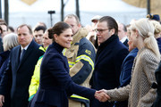 Victoria, Crown Princess of Sweden and Prince Daniel, Duke of Vastergotland attend a tribute to victims of Stockholm terrorist attack on the first anniversary on April 7, 2018 in Stockholm, Sweden.