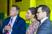 Crown Princess Victoria and Prince Daniel of Sweden visit an ambulance station in the Stockholm suburb of Solna on August 27, 2020 in Stockholm, Sweden.