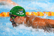 Chad le Clos of South Africa competes during the Men's 100m Butterfly Final on day five of the Gold Coast 2018 Commonwealth Games at Optus Aquatic Centre on April 9, 2018 on the Gold Coast, Australia.
