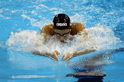 Rebecca Soni of the United States competes in the Women's 4x100m Medley Relay during Day Fifteen of the 14th FINA World Championships at the Oriental Sports Center on July 30, 2011 in Shanghai, China.