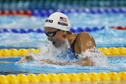 Rebecca Soni of the United States competes in heat three of the Women's 4 x 100m Medley Relay heats during Day Fifteen of the 14th FINA World Championships at the Oriental Sports Center on July 30, 2011 in Shanghai, China.