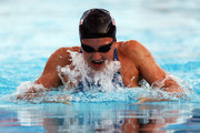 Rebecca Soni of the United States competes in the Women's 100m Breaststroke Final during the 13th FINA World Championships at the Stadio del Nuoto on July 28, 2009 in Rome, Italy.