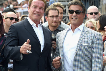 Sylvester Stallone Arnold Schwarzenegger Guests Attend the LA Premiere of Paramount Pictures' 'Terminator Genisys'