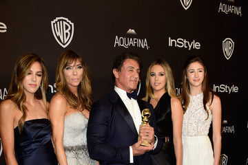 Sylvester Stallone Sistine Rose Stallone 2016 InStyle and Warner Bros. 73rd Annual Golden Globe Awards Post-Party - Arrivals