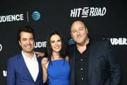 """Ron Livingston, Laura Mennell and Will Sasso attend the AT&T AUDIENCE Network Premieres """"Loudermilk"""" And """"Hit The Road"""" on October 10, 2017 in Los Angeles, California."""