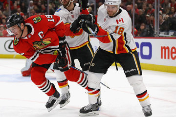 T.J. Brodie Calgary Flames v Chicago Blackhawks