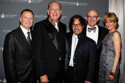 Bill Hearn, John Esposito, John Oates, Tom Block, and T.J. Martell CEO Laura Heatherly attend the 15th Annual Nashville Best Cellars Dinner hosted by the T.J. Martell Foundation at the Omni Hotel Downtown on April 28, 2014 in Nashville, Tennessee.