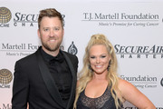 Charles Kelley and Cassie McConnell attend The T.J. Martell Foundation Nashville Best Cellars 2019 at the Loews Vanderbilt Hotel on April 22, 2019 in Nashville, Tennessee.