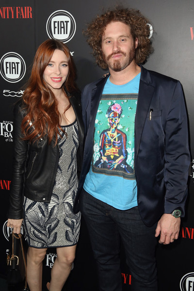 Vanity Fair And FIAT Young Hollywood Celebration - Red Carpet [event,facial hair,outerwear,premiere,beard,performance,fashion design,style,musician,jacket,actors,t.j.,miller,kate gorney,los angeles,california,chateau marmont,vanity fair,l,fiat young hollywood celebration - red carpet]