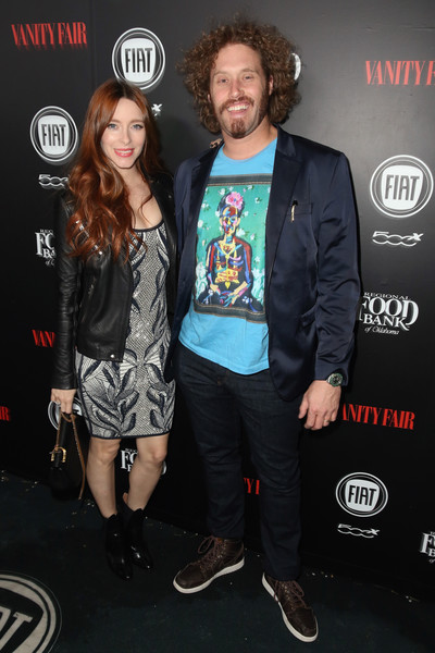 Vanity Fair And FIAT Young Hollywood Celebration - Red Carpet [event,outerwear,carpet,premiere,performance,jacket,style,actors,t.j.,miller,kate gorney,los angeles,california,chateau marmont,vanity fair,l,fiat young hollywood celebration - red carpet]