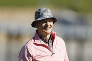 Actor Bill Murray reacts on the 17th hole during the 3M Celebrity Challenge prior to the AT&T Pebble Beach Pro-Am at Pebble Beach Golf Links on February 05, 2020 in Pebble Beach, California.
