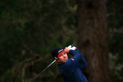 Adam Scott of Australia plays his shot from the 13th tee during the second round of the AT&T Pebble Beach Pro-Am at Spyglass Hill Golf Course on February 08, 2019 in Pebble Beach, California.