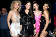 (L-R) Jasmine Sanders, Adriana Lima, Josephine Skriver, and Danielle Herrington attend AT&T TV Super Saturday Night at Meridian at Island Gardens on February 01, 2020 in Miami, Florida.