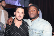Danny Amendola and Reggie Bush attend TAO group's Big Game Takeover presented by Tongue & Groove on January 31, 2019 in Atlanta, Georgia.