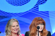 "Amy Poehler and Natasha Lyonne accept the Outstanding New Program Award for ""Russian Doll"" onstage during the TCA Awards at The Beverly Hilton Hotel on August 03, 2019 in Beverly Hills, California."