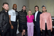 (L-R) Bobby Berk, Karamo Brown, Jonathan Van Ness, Amy Poehler, Antoni Porowski and Tan France attend the TCA Awards at The Beverly Hilton Hotel on August 03, 2019 in Beverly Hills, California.