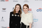 Clare Waight Keller (L) and Julianne Moore attend the TIME 100 Gala 2019 Lobby Arrivals at Jazz at Lincoln Center on April 23, 2019 in New York City.