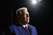 Former Vice-President Al Gore prepares backstage at the TIME 100 Health Summit at Pier 17 on October 17, 2019 in New York City.