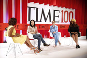 NEW YORK, NEW YORK - APRIL 23 (L-R) Gayle King, Aileen Lee, Whitney Wolfe Herd, and Tyra Banks participate in a panel discussion during the TIME 100 Summit 2019 on April 23, 2019 in New York City.