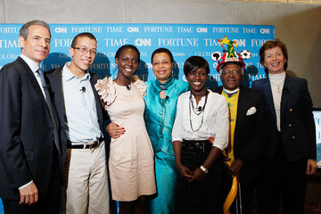 Desmond Tutu Mary Robinson TIME/FORTUNE/CNN Global Forum in Cape Town, South Africa - Day 4