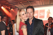 Tamara Sedmak and Norbert Dobeleit attend the TLC Station Launch Party on April 10, 2014 in Munich, Germany.