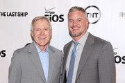 Actor Eric Dane (R) poses for a photo with the Secretary of the Navy Ray Mabus at the TNT 'The Last Ship' Washington D.C. Screening at The Newseum on June 12, 2015 in Washington, DC.