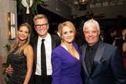 (L-R) Goloka Bolte, Kevin Reilly, Samantha Bee and David Levy attend the TNT And TBS Emmy After-Party 2018 at Dama on September 17, 2018 in Los Angeles, California.