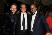 (L-R) Daniel Bruhl, Kevin Reilly and Pascal Deroches attend the TNT And TBS EMmy After-Party 2018 at Dama on September 17, 2018 in Los Angeles, California.