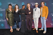 """(L-R) Patty Jenkins, India Eisley, Golden Brooks, Connie Nielsen, Jefferson Mays and Chris Pine attend TNT's """"I Am The Night"""" FYC Event on May 9, 2019 in North Hollywood, California."""